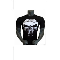 Marvel Playera Licra Compresion Punisher Tarda 4-5 Semanas