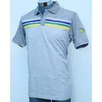 Playera Adidas Polo Casual Brasil Para Hombre 100% Algodón