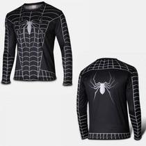Playera Marvel Super Heroes Spiderman Black Demora 4-5 Sem