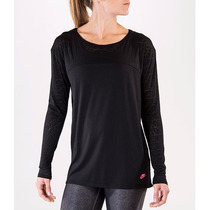 Blusa Nike Run Grid Burnout Long Sleeve Deportiva 630978-010