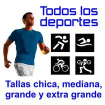 Playera Deportiva Licra Mayoreo Hombre M/corta