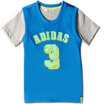 Playera Entrenamiento Basketball Niño 5-6 Años Adidas S21684