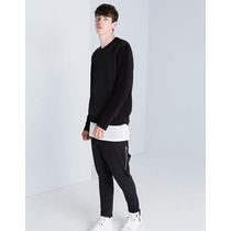Pants Baggy Cierre Lateral Bershka Y De Moda Jogger