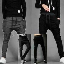 Nuevo Modleo 2014 Pants Harem Skinny Slim Gris Negro