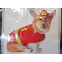 Disfraz De Bombero Para Perro Chico B254