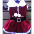 Disfraz Vestido Santa Claus Talla 4 Para Perritas