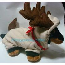 Disfraz Reno Con Cuernos Talla Tres Para Perros Navidad