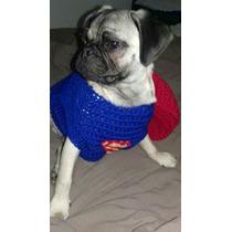 Traje Superman Para Mascotas Perros Y Gatos