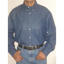 Mayoreo Camisa Mezclilla 7.5 Oz,bordadora, Serigrafia 12