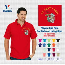 Playera Tipo Polo Bordada Con Tu Logotipo