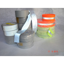 Cinta Reflejante Textil Rollos 2 Pulg -100 Mts