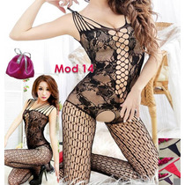 Fishnet-body Stocking -tanga Incluida -sexy-red-lenceria-