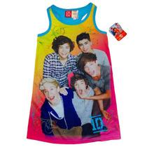 Pijama 7/8 Anos One Direction Nina Camison Rosa Azul 1d Nyal