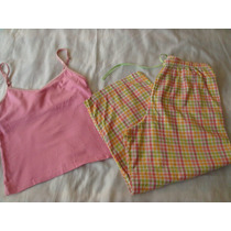 One Step Up Set Pijama Cuadros Capri Rosa Talla M