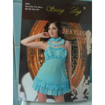 Baby Doll Azul Turquesa 2 Piezas Sexy Atrevido 9060