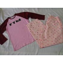 American Appareal Adonna Polka Dots Rosa Set Pijama Talla M
