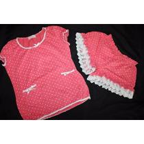 Tokio Fashion Set Pijama Boxer Y Cami Lunares Talla Mediana
