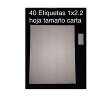 Etiquetas Para Ropa Impresa Y En Blanco En Hoja