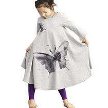 Zeagoo Niños Niñas Ropa De La Mariposa De Algodón De Impresi