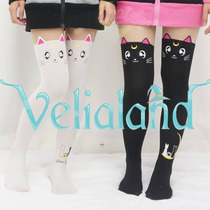 Sailor Moon Artemis Luna Medias De Gato Kawaii Cosplay Anime