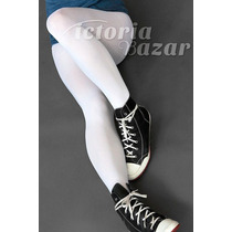 Pantimallón / Pantimedia Gruesa Color Blanca Talla Chica