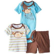 Gerber De Los Bebés De 3 Piezas Body Shirt Juego Corto