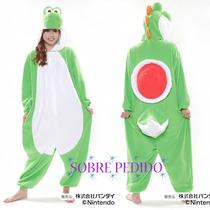 Kigurumi Mameluco Disfraz Pijama Yoshi Original Nintendo