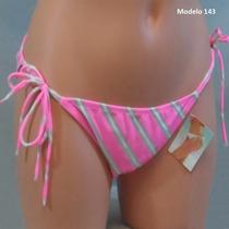Victoria Secret Bikini De Traje De Baño, En Rayas Rosa Con C