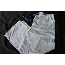 Aerie Pijama Pantalon Azul Rayas Algodon Talla Xl