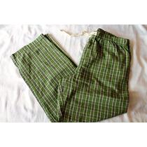 Old Navy Pijama Pantalon Caballero Cuadros Verde Talla Xl