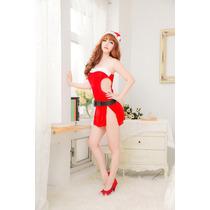 Disfraz Mujer Santa Claus Sexy Baby Doll Lencería Sensual
