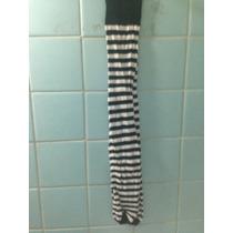 Mallas Para Niña Delgadas Rayadas Blanco Con Negro Talla 4/6