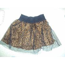 Falda Leopardo Tul Corset Unitalla Disfraz Fiesta Xv Años