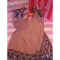 Victorias Secret The Pink Embroidered Mesh Baby Doll Sz L