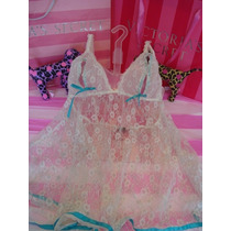 Victorias Secret The Lace Bridal Baby Doll Pezonero Sz S Y L