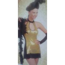 Sexy Disfraz Charleston, Cancan Talla Ch