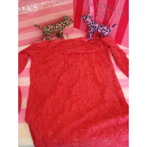 Victorias Secret The Lace Red Boatneck Tunic Baby Doll Sz Xl