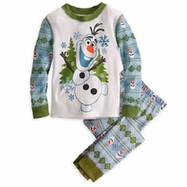 Olaf Frozen Pijama Niño Disney Store Original Algodon 2 Piez