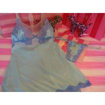 Victorias Secret The Angel Blue Conjunto Baby Doll Y Tanga M