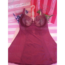Victorias Secret Wine Mesh Luxury Bra Baby Doll Sz 36c