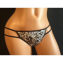 Victorias Secret Bikini Panty Animal Print Con Listones Mb12
