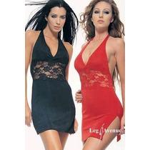 Leg Avenue Sexy Mini Vestido Halter Encaje
