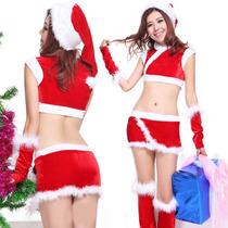 Disfraz Mujer Santa Claus Atrevida Baby Doll Lencería Sexy