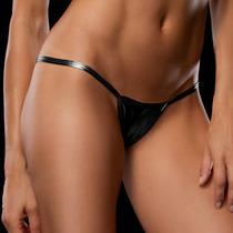 Micro Bikini Metalizado Talla Chica Color Negro