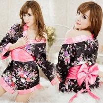 Kimono Cosplay, Sexy Baby Doll Japones , 3 Piezas
