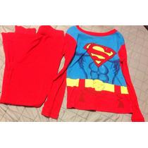 Pijama Superman Super Héroes Niño Talla 10