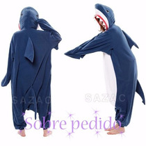 Kigurumi Pijama Mameluco Tiburón Adulto Original Disfraz