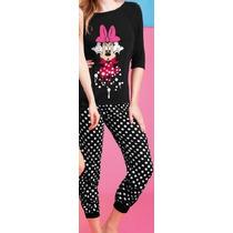 Vicky Form Pijama Playera Pantalón Minnie Mouse Mod.4552