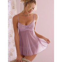 Victorias Secret The Soft Mesh Blue Baby Doll Sz Xs