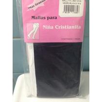 Mallas Para Niña Delgadas Combinada Blanco Y Negro